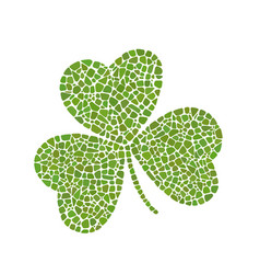 mosaic clover vector image