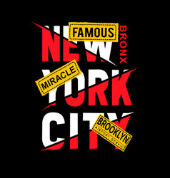 new york real cartoon shirt design vector image