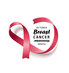 october - breast cancer awareness month isolated vector image