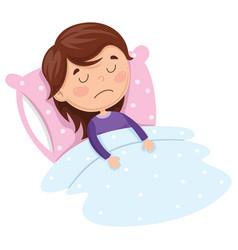 of kid sleeping vector image