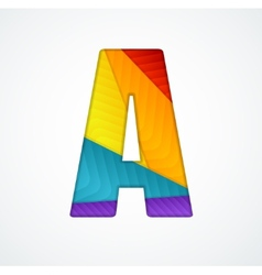 Paper letter A vector image