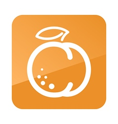 Peach outline icon Fruit vector image