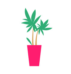 plant with broad leaves poster vector image