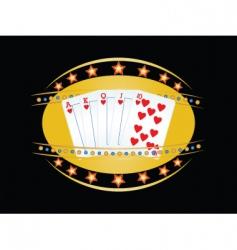 poker vector image