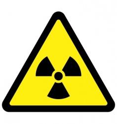 radiation triangular sign vector image