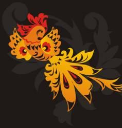 Russian Folk Art Bird vector