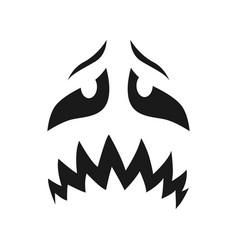 Scary face icon sad or evil unhappy emoji vector