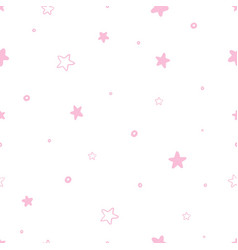 Seamless abstract stars pattern vector
