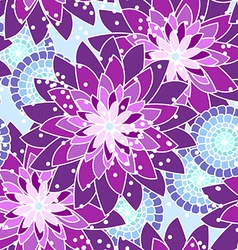 Seamless flower pattern in purple tones vector
