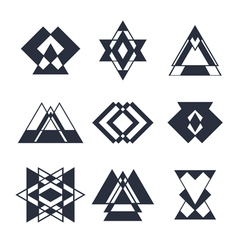 Set of abstract geometric elements trendy hipster vector image