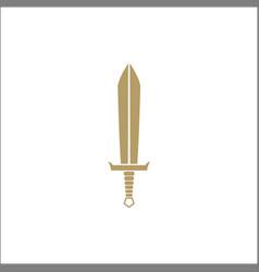 simple sword icon logo designs vector image