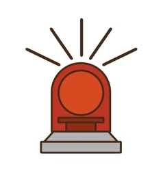 siren light red isolated icon vector image