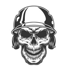 Skull in the baseball helmet vector