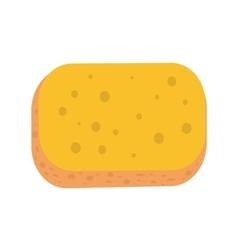 Sponge in Flat Style Design vector