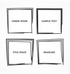squares doodle set vector image