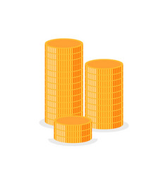 stacks gold isolated money column cash vector image