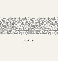Startup banner concept vector