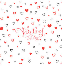 valentines day greeting card with love hearts vector image