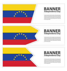 Venezuela flag banners collection independence day vector