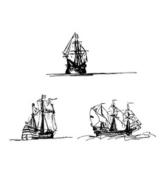Vintage ship design vector image