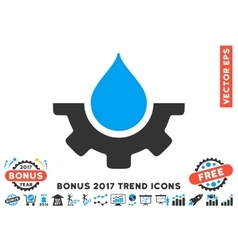 Water Service Flat Icon With 2017 Bonus Trend vector