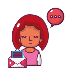 woman chatting cartoon vector image