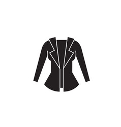 women jacket black concept icon women vector image