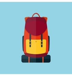 Backpack flat style icon vector image vector image