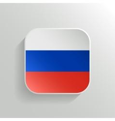 Button - Russia Flag Icon vector image