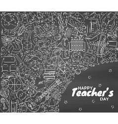 Happy teachers day background vector