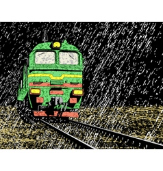 rain train vector image vector image