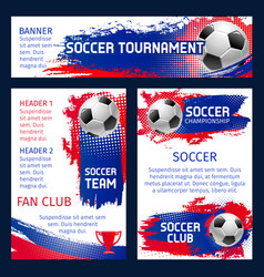 soccer team football championship posters vector image