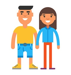 Young smiling couple vector image