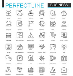 business thin line web icons set outline stroke vector image vector image