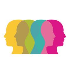 color contour humans icon vector image vector image