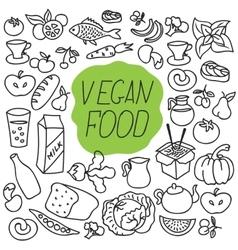 fresh food Healthy eating Fish and vector image vector image