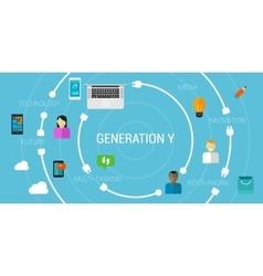 Generation y or smartphone generation millennials vector