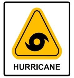 Hurricane Warning Sign vector image vector image