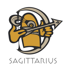 image of sagittarius astrological sign of zodiac vector image