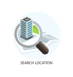 Location Icon Search Concept Flat Design vector image vector image
