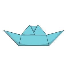 origami boat icon cartoon style vector image