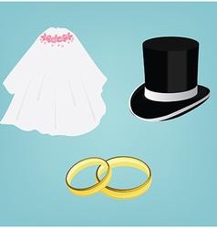 Wedding invitatiom vector image
