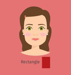 woman face type rectangle vector image vector image