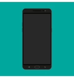 Black modern touch screen smartphone vector image vector image