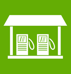 gas station icon green vector image