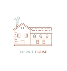 Line House vector image vector image