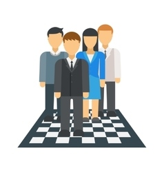 People on chessboard vector image