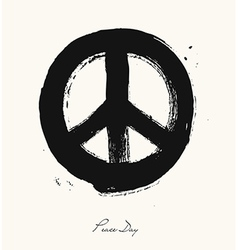 Isolated hand drawn peace symbol brush style vector image
