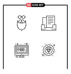 4 creative icons modern signs and symbols of vector