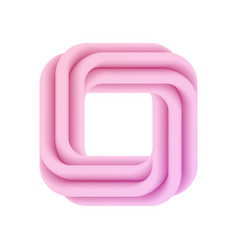 abstract pink 3d frame vector image